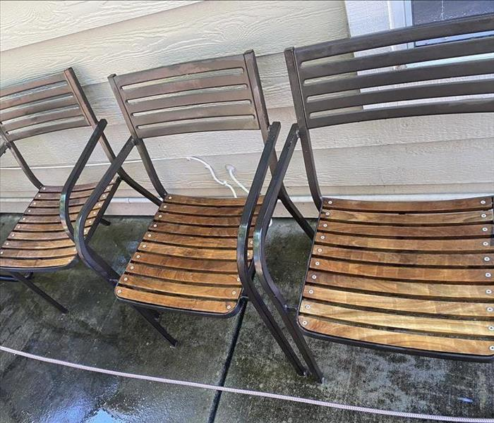 cleaned and restored outdoor chairs